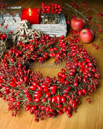 rose hip wreath