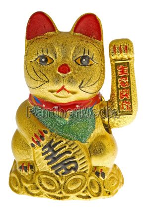 golden waving cat from china