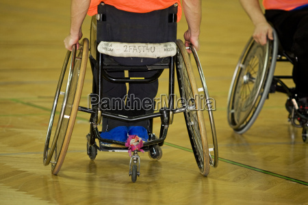 disabled sports in wheelchair handball