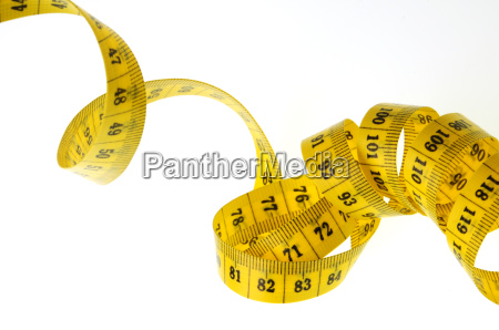 yellow tape measure exempted as spiral