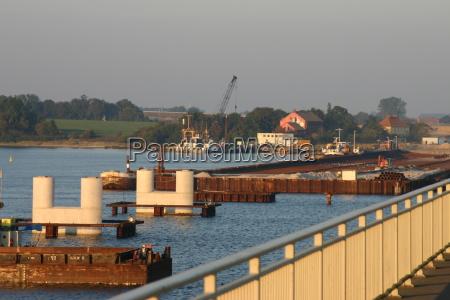 ponte cais grades de ponte trabalhos