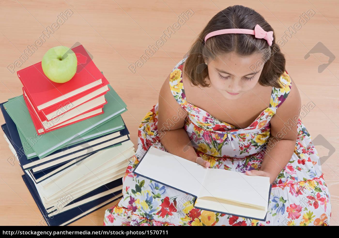 adorable, girl, reading - 1570711