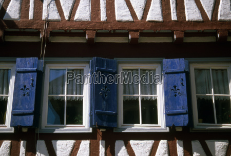 half timbered house window dt 0184