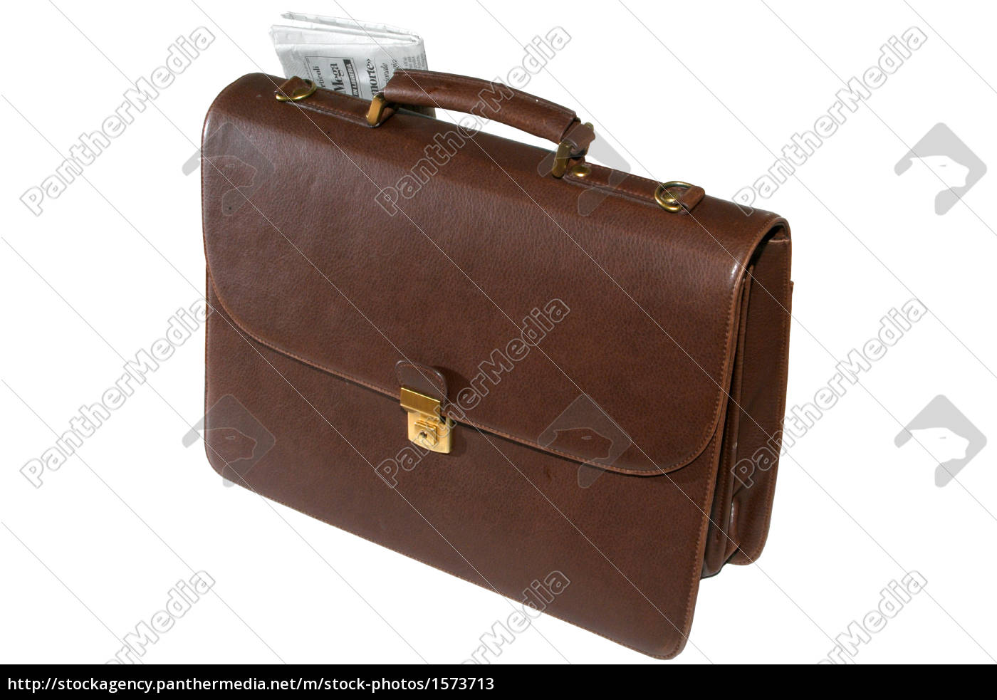 briefcase, with, newspaper - 1573713