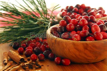 cranberries, in, bowls - 1575751