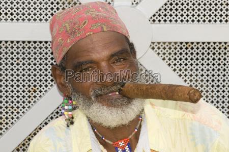 portrait with cigar