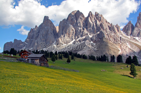 alm in the dolomites