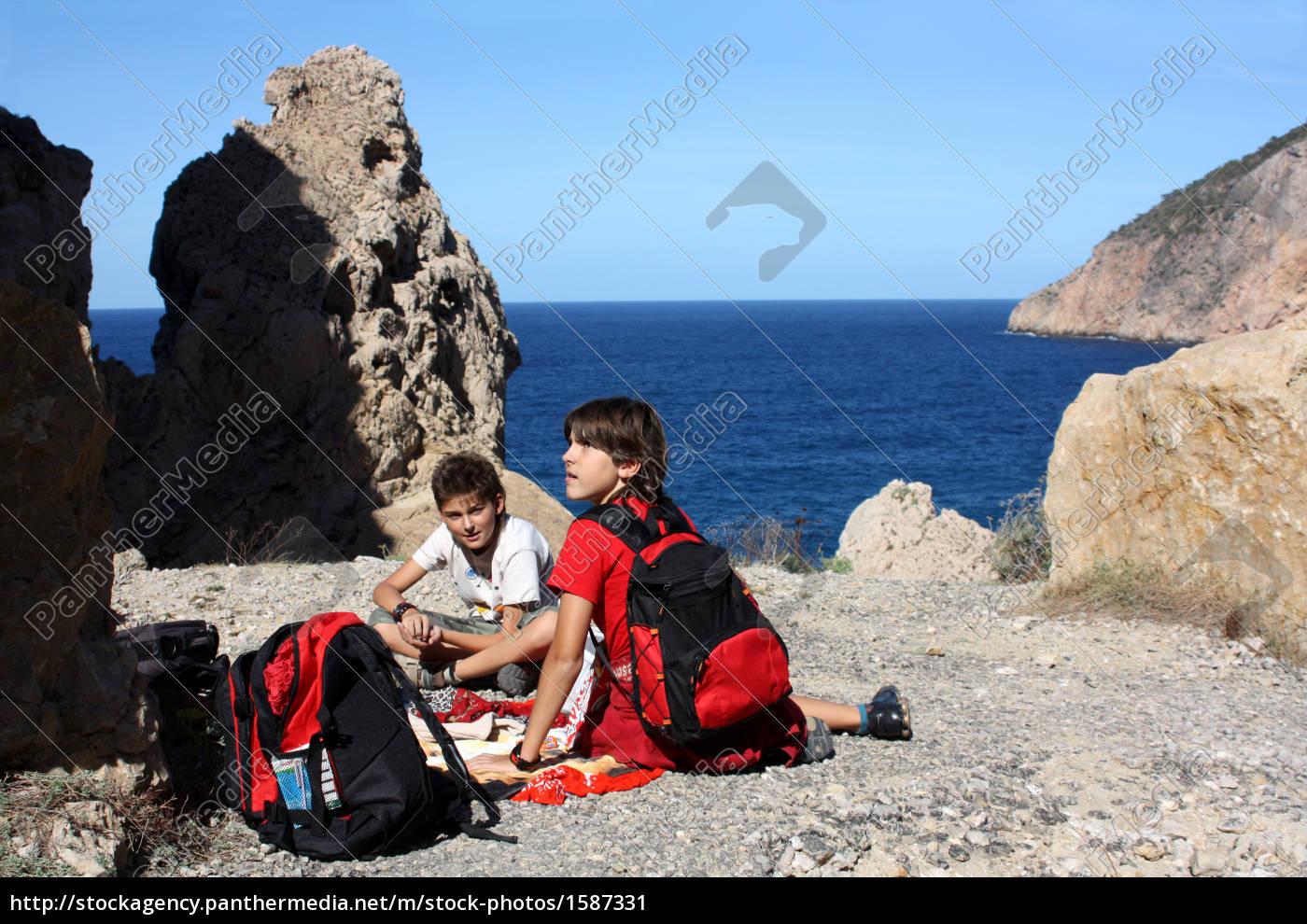 hiking, in, ibiza - 1587331
