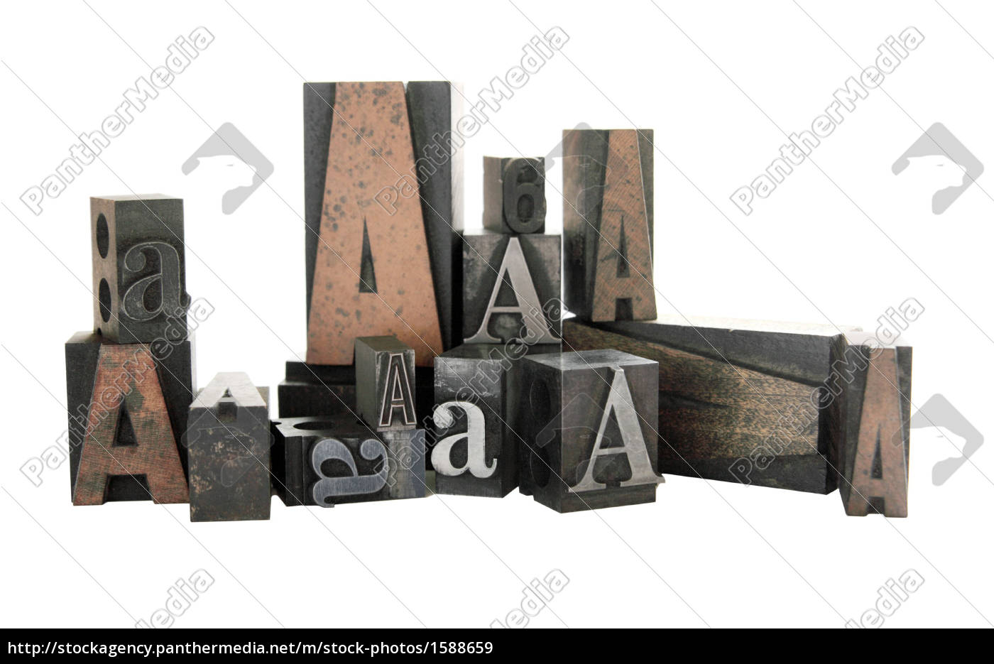 the, letter, a, in, wood, and - 1588659