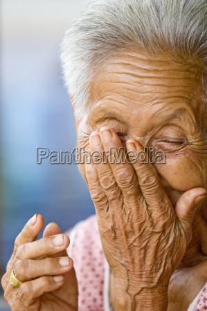 woman asia portrait senior senior citizen