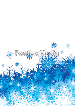 snowflake pile blue space