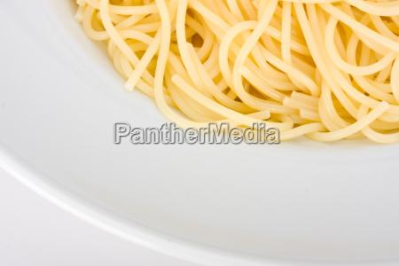 spaghetti in a white plate