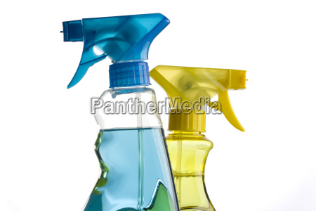 blue, and, yellow, spray, bottles - 1612669