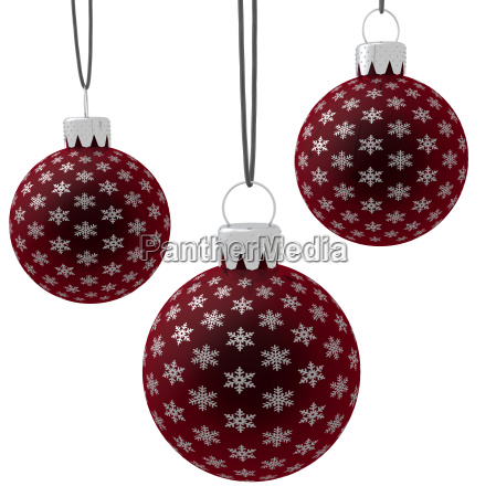 isolated, hanging, red, christmas, ornaments - 1617409