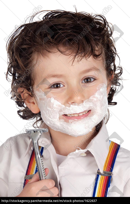adorable, child, shaving - 1622637