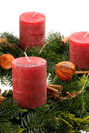detail of an advent wreath