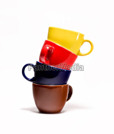 coffee cups stack