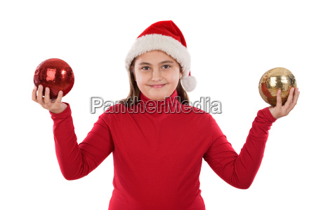 beautiful girl with two balls of