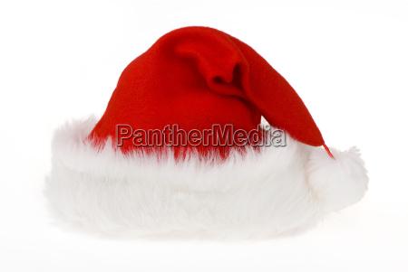 santa hat with heart shaped fold
