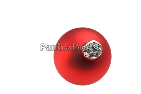 red single bauble isolated