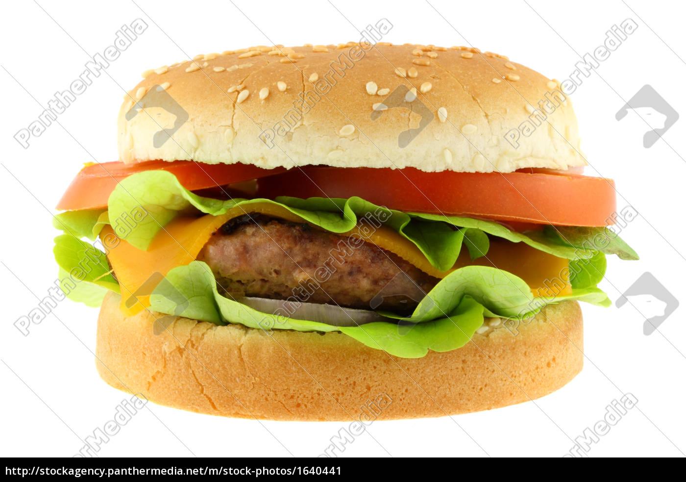 hamburger, isolated, on, white - 1640441