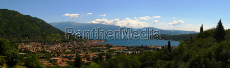 italy panorama of salo on