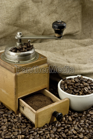 roasted, coffee, coffee, cup, and, coffee, mill - 1644935
