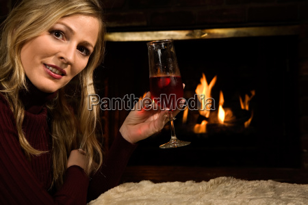 woman, wine, fire, conflagration, blond - 1649633