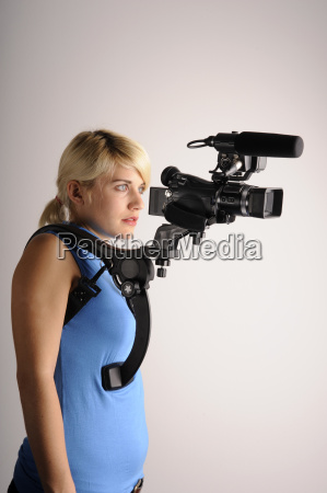 woman education absorb video recording film