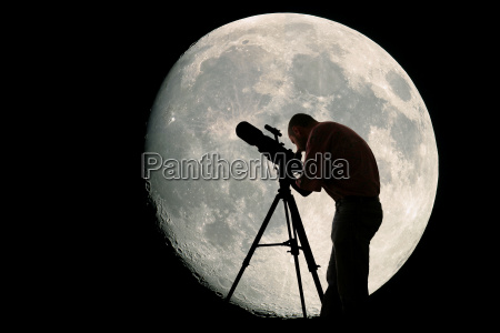 astronomer and moon