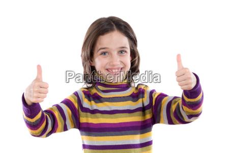 cheerful, winner, girl, saying, ok, - 1650449