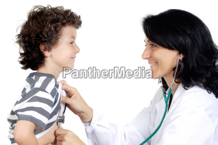 lady doctor with a child