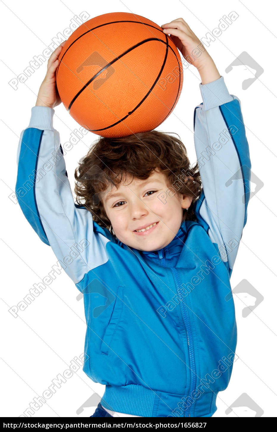 adorable, child, playing, the, basketball - 1656827