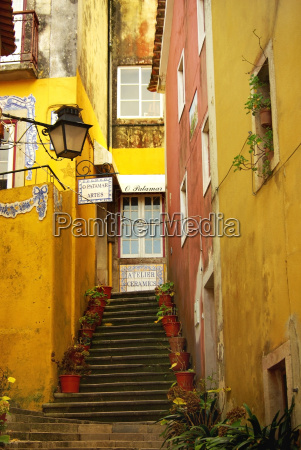 old, street, in, sintra, , portugal. - 1671831
