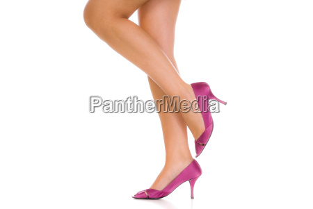 beautiful, legs, with, pink, pumps - 1674723