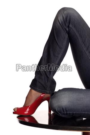 legs, red, shoe - 1675273