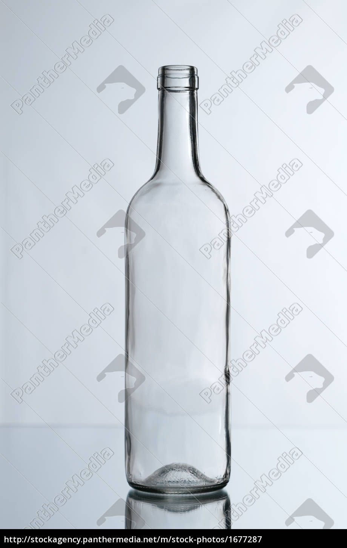 glass, bottle, against, white, background - 1677287