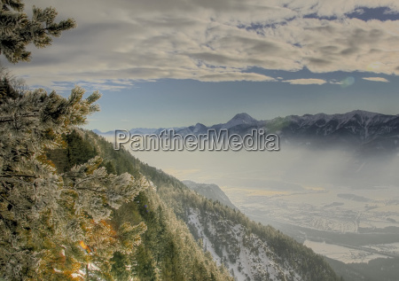 gail valley in winter