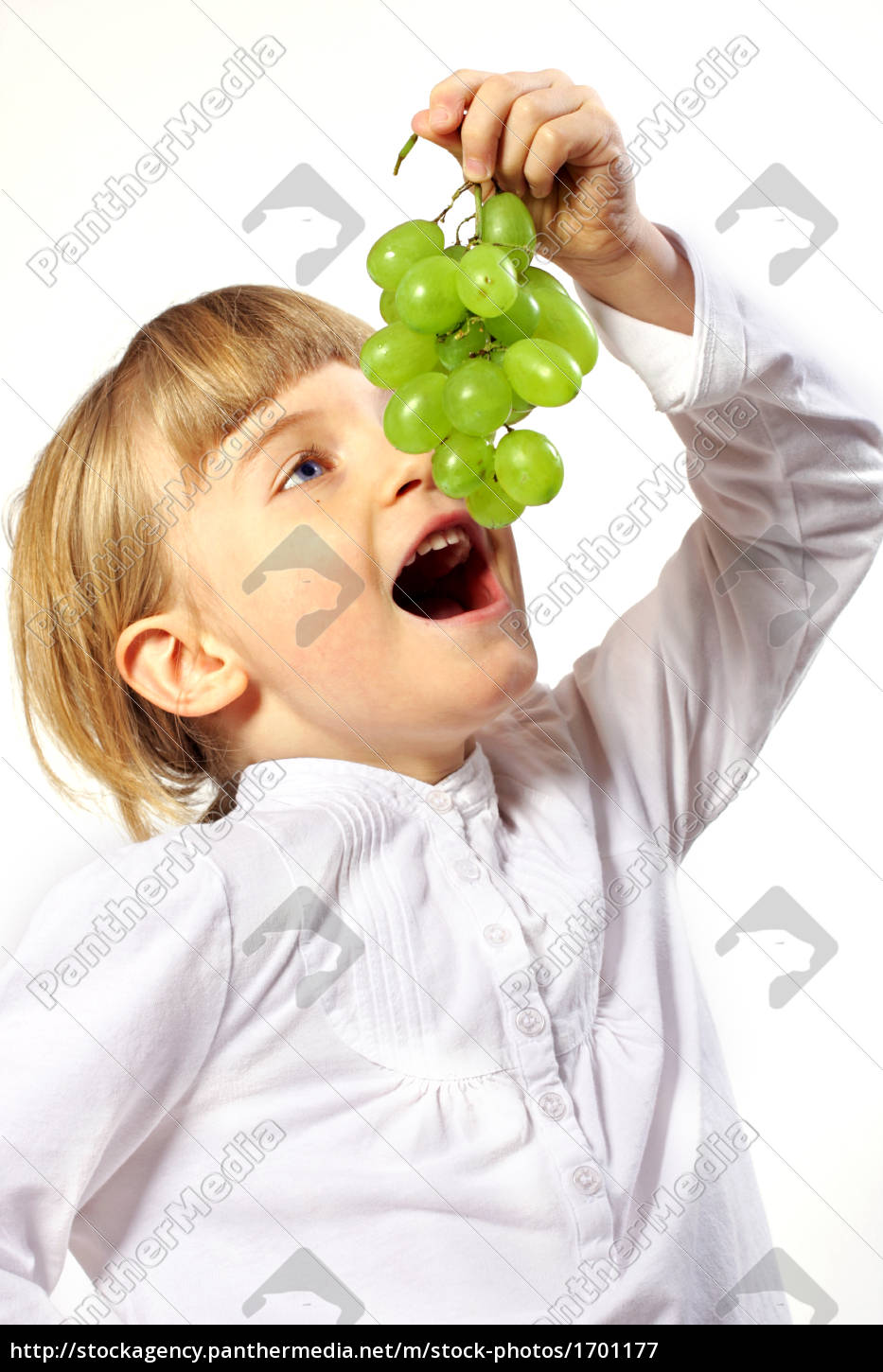 girl, with, grapes - 1701177