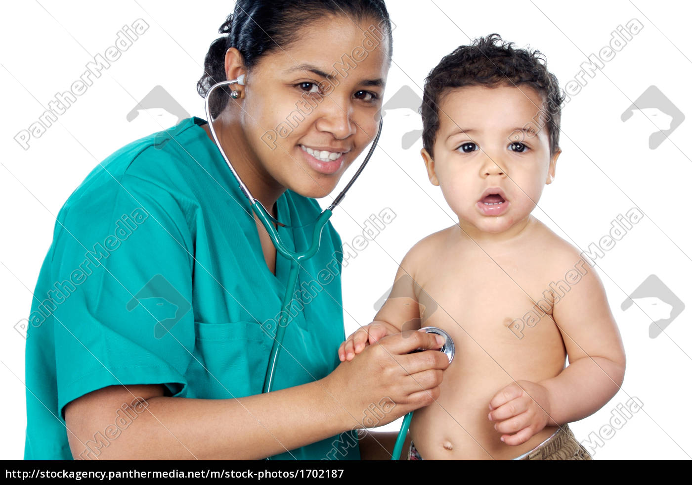 doctor, physician, medic, medical practicioner, baby, stethoscope - 1702187