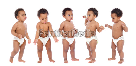 sequence of a baby in diaper