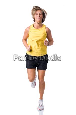 woman in jogging