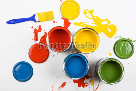 opened, paint, buckets, colors - 1714195