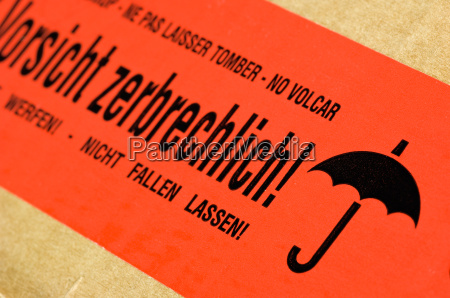 package, with, sticker, caution, fragile - 1714831