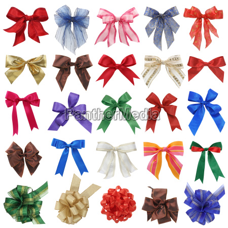 bows collection isolated on white