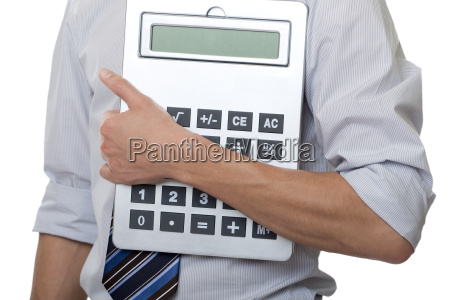 businessman with calculus