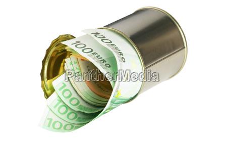 euro, bills, on, a, tin, can - 1723721
