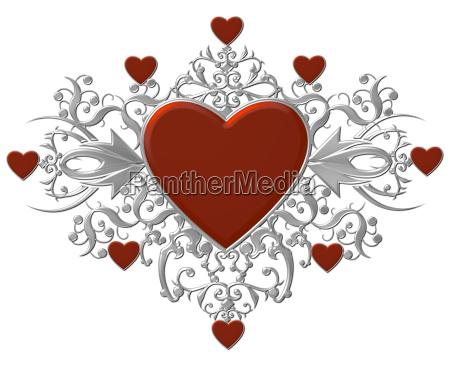 silver heart shield