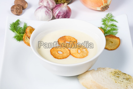 garlic, cream, soup - 1739819