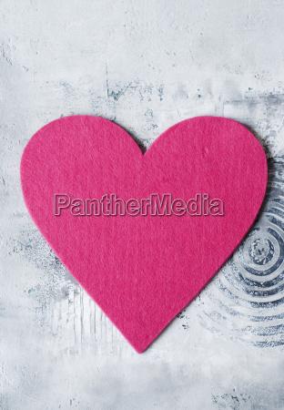 pink felt heart